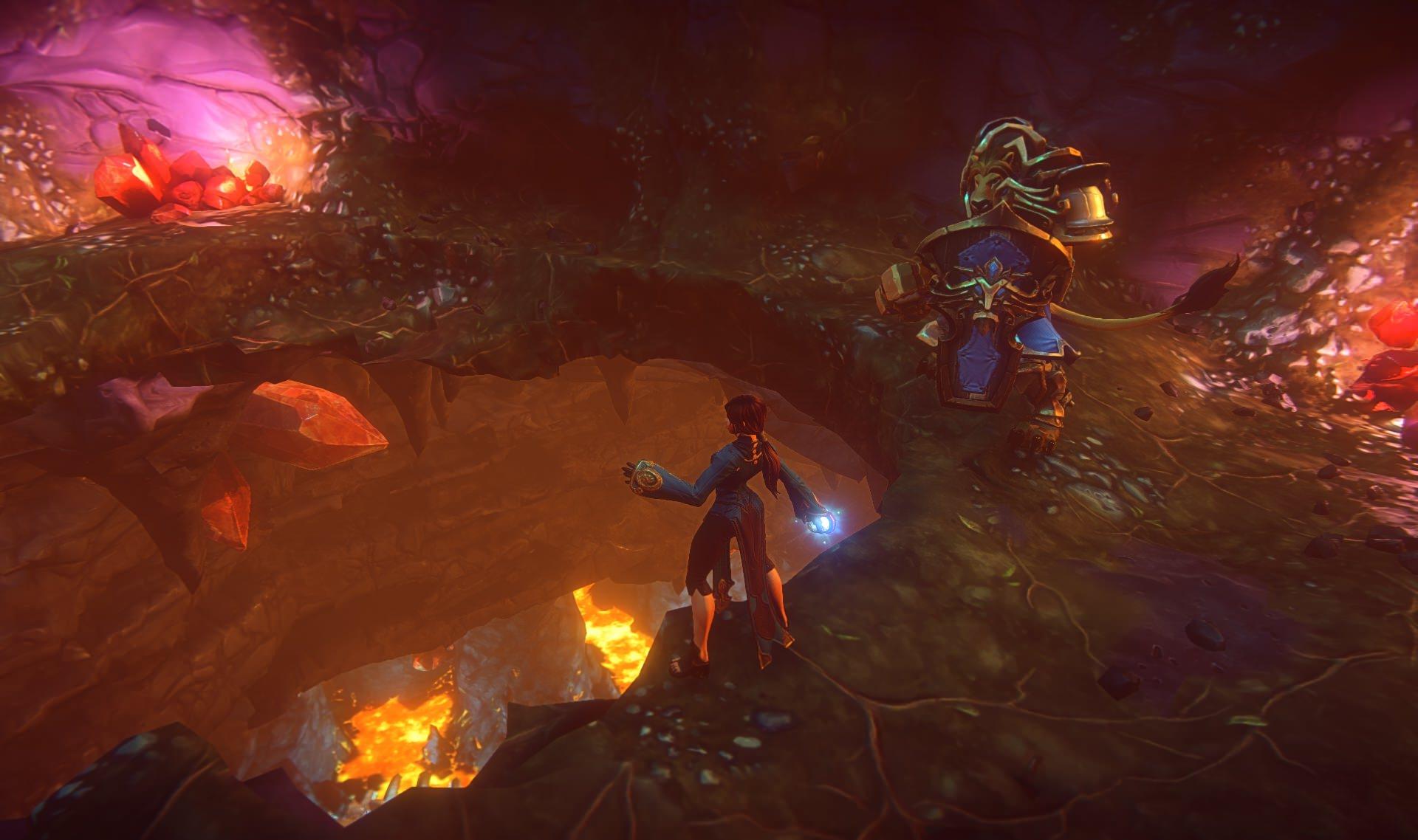 human_wizard_and_kerran_warrior_break_through_cave